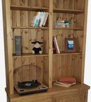 Port Royal 2 door deep base bookcase with adjustable shelves